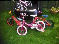 5 kids bikes job lot