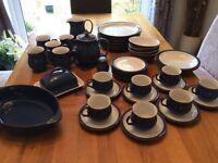 Imperial blue Denby dinner set