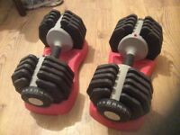 Adjustable dumbbells