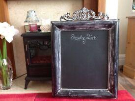 Metal Chalk board for salon