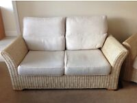 Good quality 4 piece wicker conservatory furniture