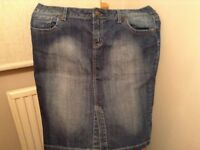 Blue denim skirt, size 16. Check out my other items for sale, great prices!
