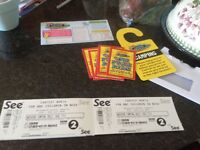 Carfest north 2 Adult, 1 over and 1 under 5yr tickets