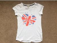 Girl's Fat Face Union Jack t-shirt, in excellent condition age 10-11 years