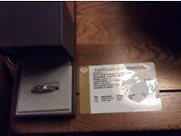 Rhodolite Garnet and white Topax Stirling silver ring