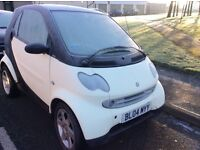 Smart Car For Two 04 plate two seater. Ideal for trips in town and commuting. £27 will fill tank!