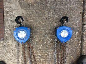 Tralift 1 ton / 1000kg chain hoist chain winch