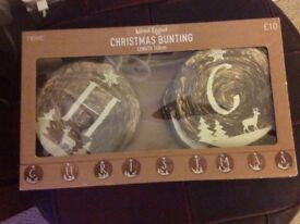 Christmas bunting decoration new in box