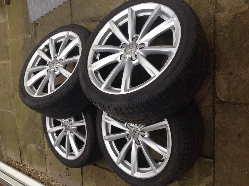Audi A6 Set Of 4 10 Spoke 18 Inch Alloy Wheels And Summer