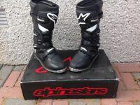 Motocross boots - Alpinestars Tech 3 - Black / white - size 11