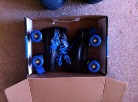 Boys Blue Roller Skates size 1