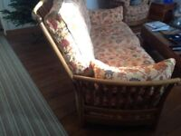 Beautifully crafted ercol renaissance easy chairs & three piece sofa,