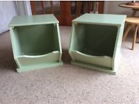 Pair of GLTC stacking storage boxes/ toy storage/ bedside tables