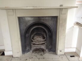 Victorian fireplace with painted slate surround
