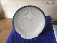 Wedgwood Blue Pacific shell serving plate, never used