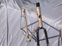ROSSIN RECORD PEARL WHITE COLUMBUS FRAME & FORKS 80s - 56CM C-T-C CAMPAGNOLO