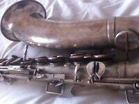 Vintage Tenor Saxophone G.H. Huller * Amazing !! *