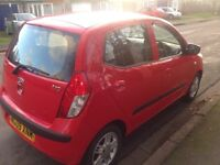 Hyundai i10 comfort 1.2 2009 full service history one owner £30 tax a year