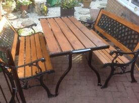 Garden Cast iron benches and table