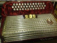 Hohner Gaelic IV 3 Row Accordion 96 Bass B/C/C# Nice Condition