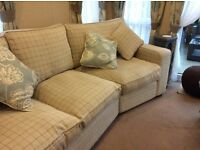 Curved 4 seater sofa bed and chair