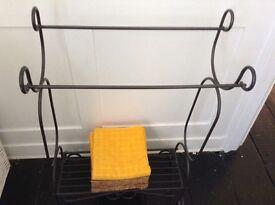 Bathroom set shelves towel rail & mirror