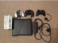 Xbox 360. With 3 controllers and 6 games