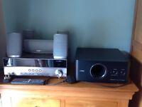Yamaha av 3d receiver and speakers