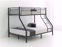 ░▒ NEW STYLE ▒░ TRIO SLEEPER BUNK BED SAME DAY EXPRESS DELIVERY - MATTRESS AVIALABLE