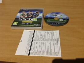 RUGBY 15 PLAYSTATION 3 LIKE NEW.