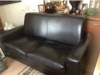 Chocolate Brown 2 Seater Leather Sofa Top Quality