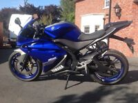 2013 Yamaha 125 full mot and in very good condition great first time bike