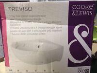 Treviso Cooke and Lewis corner basin sink