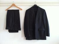 """Baumler Men's Two Piece Suit - Dark Grey - 40L - TROUSERS 33""""L"""
