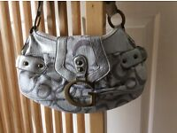 Guess Style Bag. Silver and White. New. Never Used. Bargain