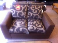 BRAND NEW!!! New line, 2 seater brown leather settee sofa, v comfortable modern design