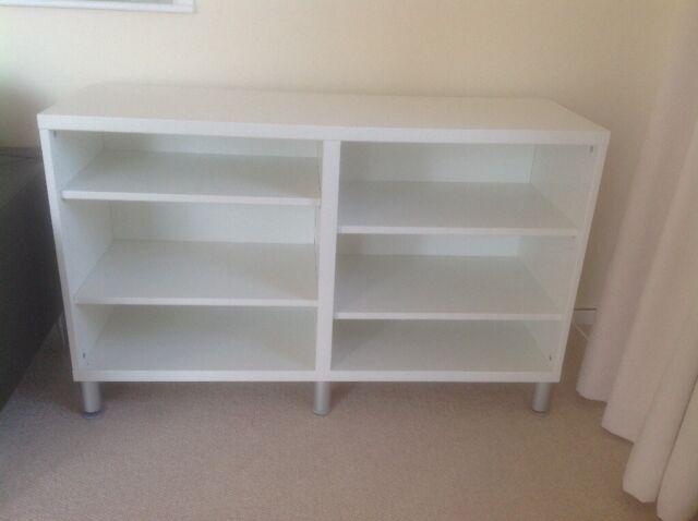 White Melamine Low Shelving Unit Bookcase In Bournemouth Dorset Gumtree