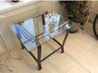 Bevelled glass/ metal tables ideal for conservatory/ bedroom