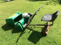 Greens Self propelled Lawn Mower with optional ride on roller