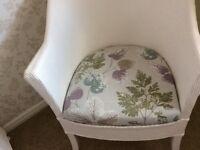 Lloyd Loom bedroom chair.