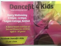 New class - Dancefit 4 Kids! Children aged 5-10 who love to dance? Wednesday 5:30pm Lagan College