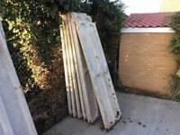 Concrete sectional garage pieces