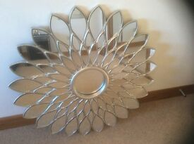 Large sunflower design mirror