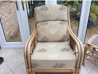 Conservatory chair,foot stool & matching coffee table