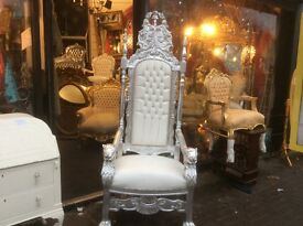 French throne chair
