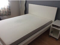 Double Bed + Bedside Table IKEA (Worth £150)