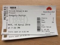 Gregory Porter tickets 18th April