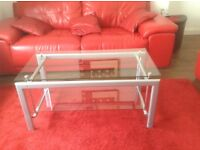 Glass coffee table tempered glass