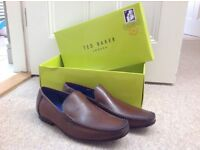 Ted Baker brown leather shoes size 9.