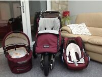 Quinny 3in1 Push Chair, Carry Cot and Car Seat.